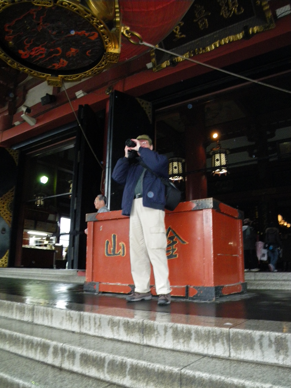 013_0076.jpg - Chris at Asakusa Senso-ji Temple Main Hall